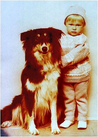 2 - Young Tina with her dog /196X ?