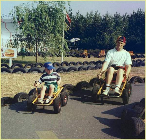 5 - Nicolai and JP racing in mooncars /Sep. 1996