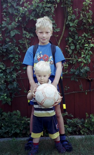 Nicolai is ready for school - Daniel is ready for Day Care /Aug. 1999