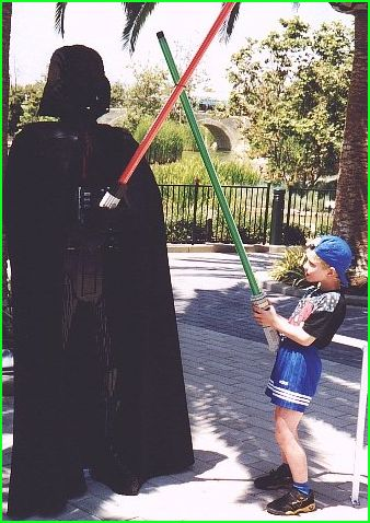 Nicolai is fighting Darth Vader